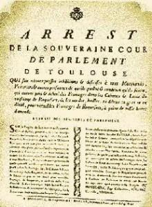 Edicto de creación de la denominación de origen Roquefort